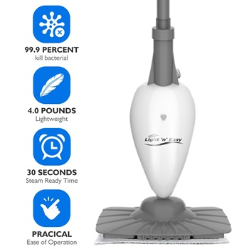 Light and Easy Super Small Steam Cleaner White